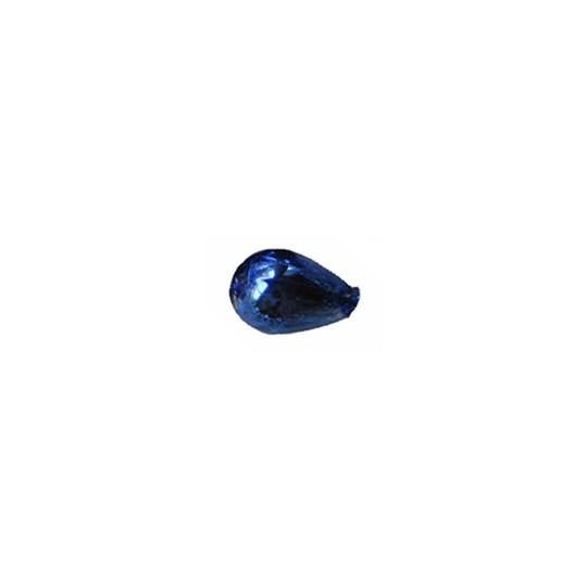 """10 Blue Drop Blown Glass Beads .5"""" ~ Czech Republic"""
