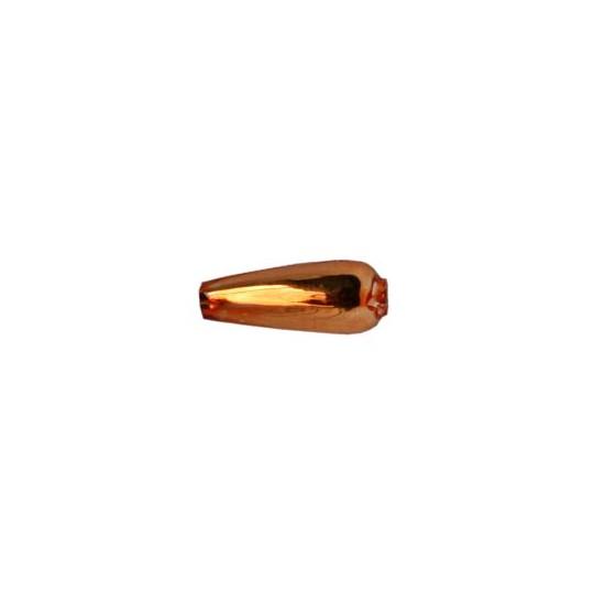 """10 Copper Drop Blown Glass Beads .625"""" ~ Czech Republic"""