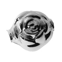"1 Extra Large Rose Blown Glass Bead 1.5"" ~ Czech Republic"