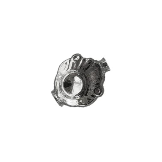 "5 Silver Extra Fancy Blown Glass Beads .875"" ~ Czech Republic"