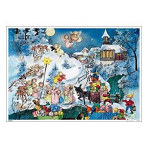Little Angels Vintage Style Advent Calendar