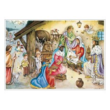 Presenting Gifts at the Manger Advent Calendar ~ Germany