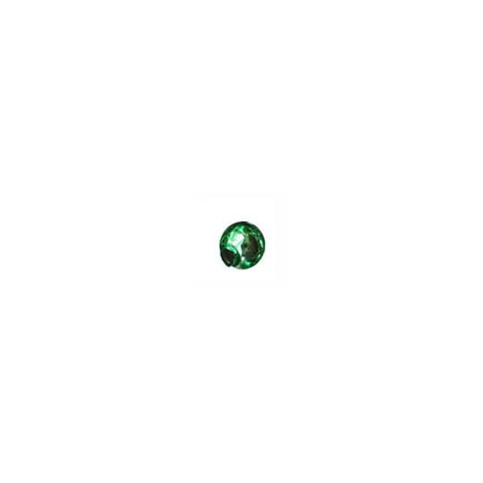 15 Green Round Glass Beads 10 mm ~ Czech Republic