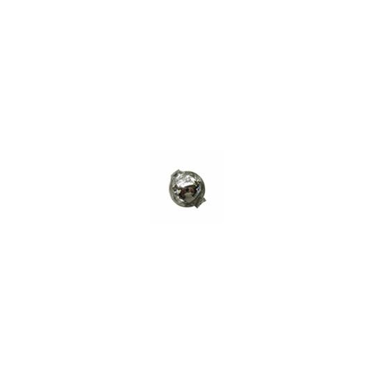 15 Silver Round Glass Beads 10 mm ~ Czech Republic