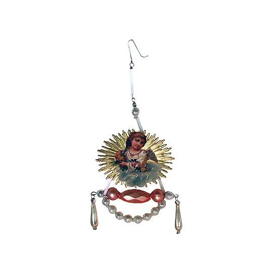 Fancy Gablonz Beaded Angel Ornament
