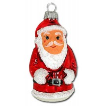 "Red Lauscha Glass Santa ~ Germany ~ 3-1/4"" tall"