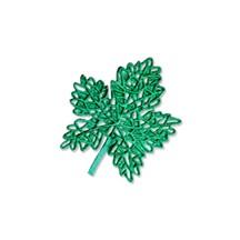 Green Dresden Foil Maple Leaves ~ 6