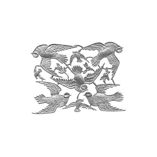 Silver Dresden Foil Doves ~ 8 Asst.