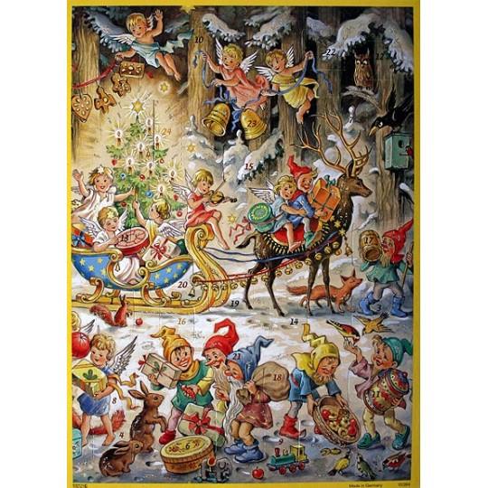 Sleigh Bells Vintage Style Advent Calendar