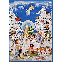 Angels and Animals Vintage Style Advent Calendar