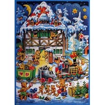 Bears Junction Vintage Style Advent Calendar
