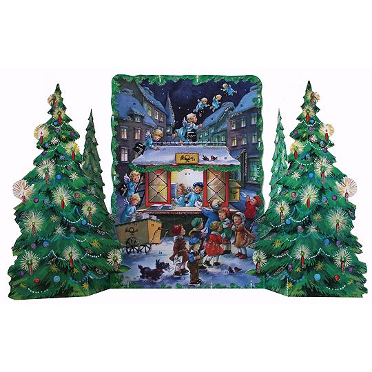 Angel Post Office Standing Advent Calendar