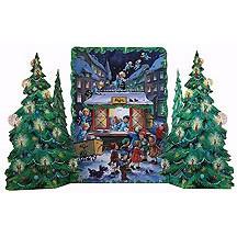 Angel Post Office Standing Advent Calendar