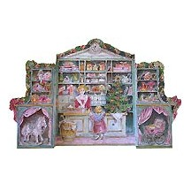 Standing Christmas Shop Vintage Style Advent Calendar