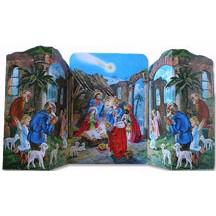 Standing Nativity Vintage Style Advent Calendar