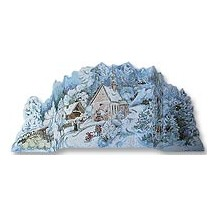 Standing Winter Wonderland Vintage Style Advent Calendar