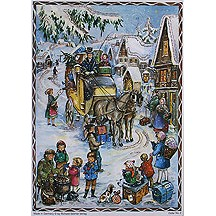 Horse Carriage Vintage Style Advent Calendar