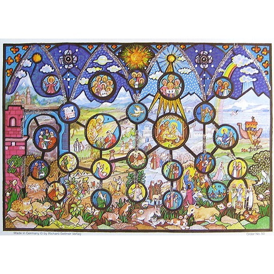 Stained Glass Vintage Style Advent Calendar