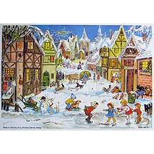 Joyful Village Vintage Style Advent Calendar