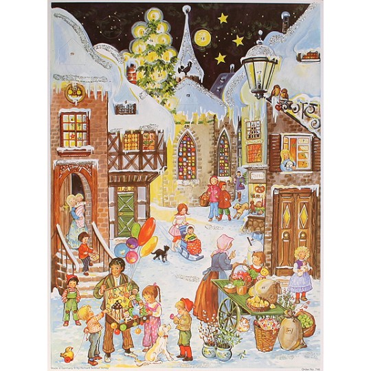 Village Children Vintage Style Advent Calendar