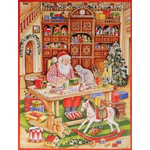 Santa's Workshop Vintage Style Advent Calendar