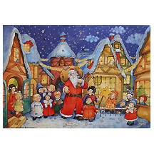 Santa with Children Vintage Style Advent Calendar