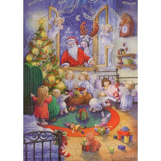 Santa at the Window Vintage Style Advent Calendar