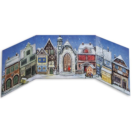 Little Town Folding Advent Calendar