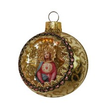 Sacred Heart Golden Indent Ornament