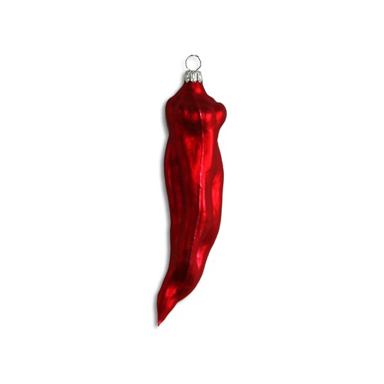 Matte Red Blown Glass Chili Pepper ~ Germany