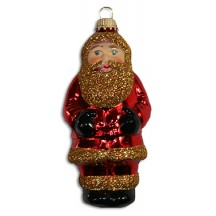 "Shiny Red Lauscha Glass Santa ~ Germany ~ 4-1/2"" tall"