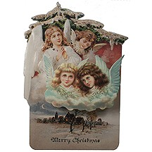Angels 3-D Easel Christmas Card