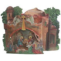 Large 3-D Nativity Card