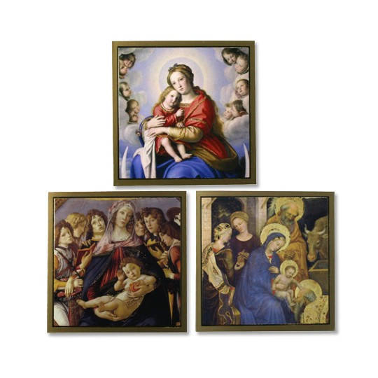 Trio of Miniature Madonna & Child Cards