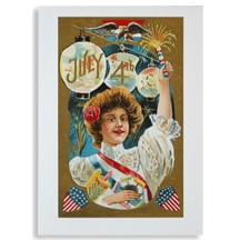 Beautiful Fourth of July Celebrtion Card