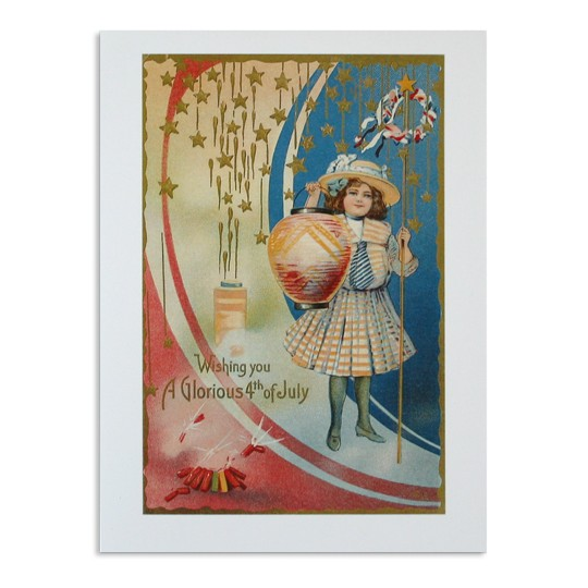 Glorious Fourth of July Card with Girl