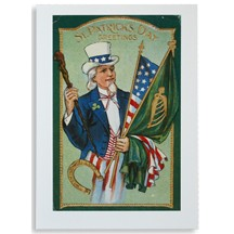 St. Patrick's Day Greetings Card with Uncle Sam
