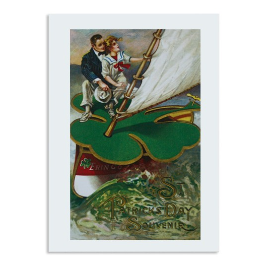St. Patrick's Day Shamrock Boat Card