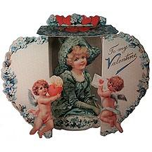 3-D Standing Victorian Valentine Card