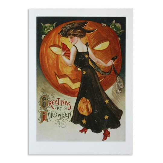 Greetings at Halloween Card with Maiden