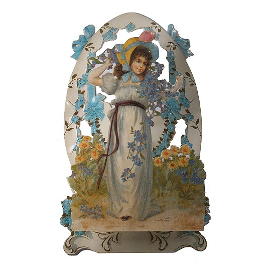 Pop Out Victorian Easter Maiden Card