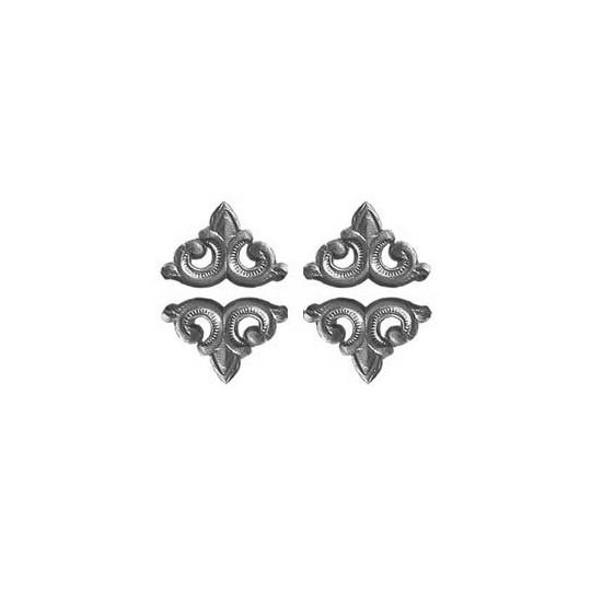 Silver Dresden Foil Fleur-de-lis Swirl ~ 24
