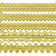 Assorted Gold Dresden Foil Trims