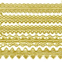 Assorted Gold Dresden Foil Trims
