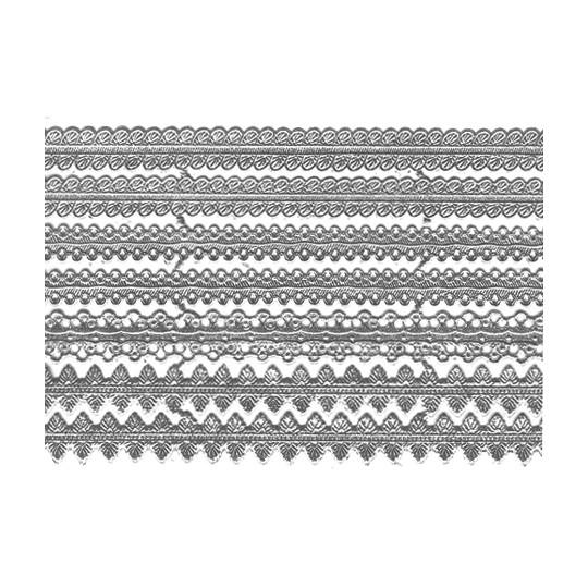 Assorted Silver Dresden Foil Trims
