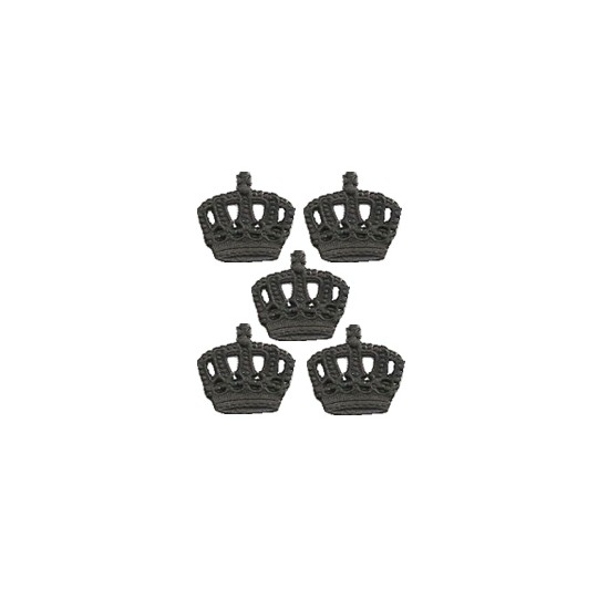 Black Dresden Paper Miniature Crowns ~ 12