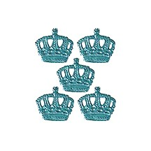 Light Blue Dresden Paper Miniature Crowns ~ 12