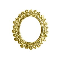 Gold Dresden Foil Frames ~ 10