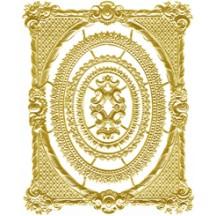 Set of Gold Dresden Foil Frames ~ 5
