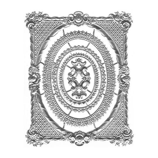 Set of Silver Dresden Foil Frames ~ 5